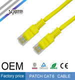 Оптовая продажа кабеля заплаты связи 24AWG UTP CAT6 RJ45 OEM Sipu