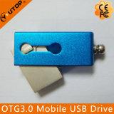 소형 회전대 OTG2.0/3.0 이동할 수 있는 이중 USB 기억 장치 지팡이 (YT-3204-03)