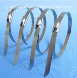 Unbeschichtete Kugel-selbstsichernder Edelstahl-Metallkabelbinder
