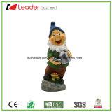 Figurine di Gnome di Polyresin con un libro che si siede per gli ornamenti del giardino