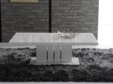 حديثة [ستينلسّ ستيل] [دين تبل] طاولة بيضاء مركزيّ ([نك-دت320])