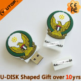 승진 선물 (YT-6669)를 위한 PVC 2D/3D 나무 USB 섬광 드라이브