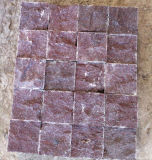 Pierre extérieure de premier porphyre rouge fendu normal de Sudes pour le pavage