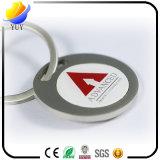 Corrente chave do metal Epoxy Bosseyed avançado do emblema da etiqueta
