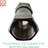 Indicador do volume de água da câmara de ar de vidro com bico de Intergral