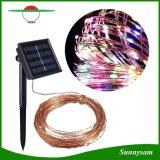 Lumière solaire de chaîne de caractères de câblage cuivre de la garniture intérieure 100LED d'horizontal de Decotation d'arbres de Noël avec éclairage LED coloré blanc blanc/chaud