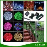 La chaîne de caractères solaire colorée extérieure de 100 lampes DEL de DEL allume les lumières imperméables à l'eau de vacances de jardin solaire féerique de Noël