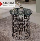 Moldura de aço inoxidável preto com tampo de vidro temperado de 10 mm