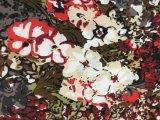 침대 시트 Hometextile 직물을%s 꽃에 의하여 Microfiber 인쇄되는 직물