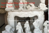Chimenea de mármol blanca de la chimenea en las existencias (SY-MFP12309)