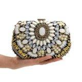 Sacchetto di sera di lusso Handmade della signora Designer Glittering Rhinestone Beaded di modo