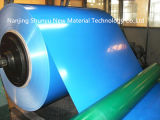 塗られた0.13-1.2mmの厚さの青いカラーはAluzincの屋根シートのための鋼鉄コイルに電流を通した