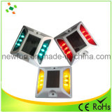 6PCS LED blinkender reflektierender Katzenauge-Straßen-Solarstift