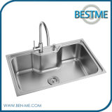 Rey de acero industrial del fregadero de cocina de la venta de los items calientes de la cocina (BS-654)
