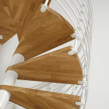Escalera natural del espiral de la madera dura del roble para el hogar