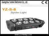 DMX 8PCS RGBW LED 거미 점화