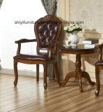 고대 식사 원탁과 의자 세트