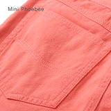 Phoebeeの細い珊瑚の100%年の綿は女の子のための衣服をからかう