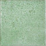 azulejo rústico esmaltado lustre verde de la porcelana de 100X100m m para la pared y el suelo