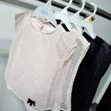 소녀를 위한 Organza &Cotton에 의하여 뜨개질을 하는 t-셔츠