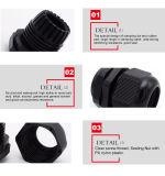 Surtidores herméticos eléctricos de las glándulas de cable de la paginación del PVC