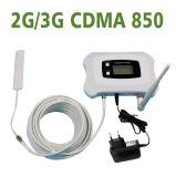 Amplificador de aumentador de presión inteligente lleno del repetidor de la señal del teléfono móvil de CDMA 850 megaciclo 2g/3G