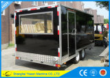 aanhangwagen Van uitstekende kwaliteit van de Keuken van de Vrachtwagen van het Voedsel van 4.5m de Mobiele Mobiele met Platen Dimond