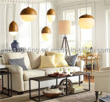 Moderne neue Entwurf Iron&Glass Pekannuss-Form-hängende Lampen für Dekoration-Beleuchtung