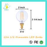 Stoele G16 1/2 지구 모양 LED 전구 G50 에너지 절약 빛