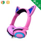 Moda Stereo Wired Foldable LED Light Cat Ear Headphone