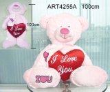Roze draag Dragende Rode hart-Valentijnskaart Gift