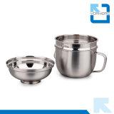 taza del bocado del acero inoxidable 2-Layer/tazón de fuente del alimento para llevar
