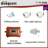 Doppelband3g 4G Dcs/3G 1800/2100MHz mobiler Signal-Verstärker des neuen Entwurfs-heißen Verkaufs-mit Antenne