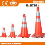 、黄色いオレンジ、ライムグリーン反射PVC道の円錐形のトラフィックの製品
