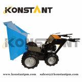 Benzin-Energien-Doppelt-vorderes Rad-Minikipper mit sehr großer Wanne für Garten-Gebrauch