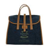 青い洗浄されたクラフト紙カラー女性袋(16A082-3)