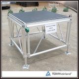 イベント装置のための卸し売り調節可能な高さのアルミニウム段階