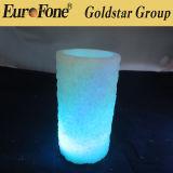 Grabado Rose Forma de la vela del LED 3 tamaños / set con control remoto