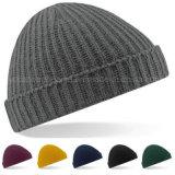 Gorrita tejida hecha punto al aire libre del sombrero del deporte de invierno de los hombres