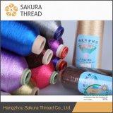 Poliéster / nylon hilo de oro puro para Textiles para el hogar
