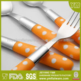 Indonésie Hot Sale Polka DOT Plastic Handle Cutlery