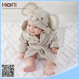 Peignoir à capuchon animal de bébé de coton en gros d'OEM