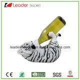 Support de vin de tête de crocodile personnalisé par métier de Polyresin pour les cadeaux promotionnels et la décoration à la maison