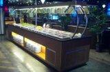 Type neuf comptoir à salades de marbre d'acier inoxydable pour le buffet