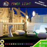 Muebles de jardín al aire libre colores LED sofá perezoso