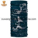 Alta calidad al aire libre sudor absorbente poliéster estiramiento pañuelo impreso bandana