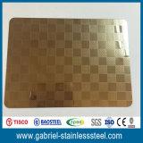 Hoja de la buena calidad 4X8 de los grados inoxidables grabados 304 de la placa de acero