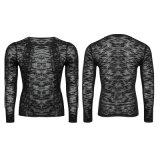 Рубашки свитера людей Newborn конструктора Lace-up (T-474)