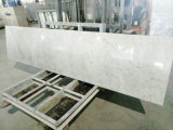 Bancadas de mármore brancas de Carrara para a hospitalidade/Multifamily naturais (YY-QC003)