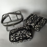 PVC& 나일론은 여자를 위한 메이크업 핸드백을 놓는다